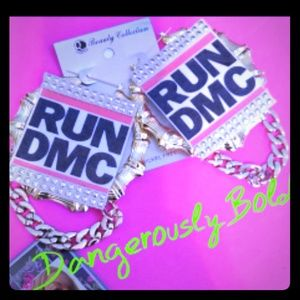 RUN DMC Custom Bamboo Earrings